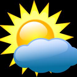 sunce iza oblaka crtež free